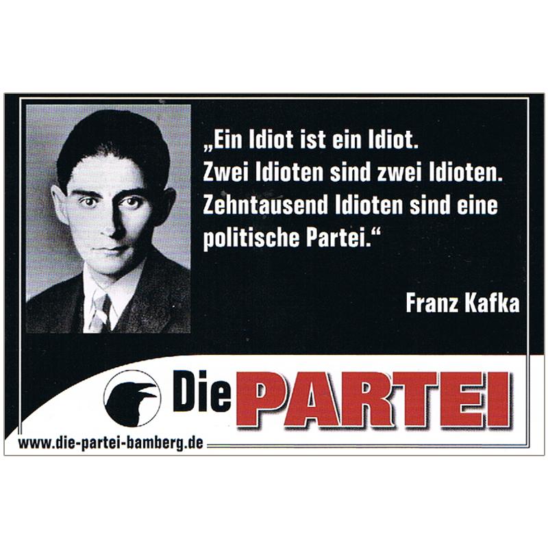 10 X Franz Kafka Zitat Aufkleber