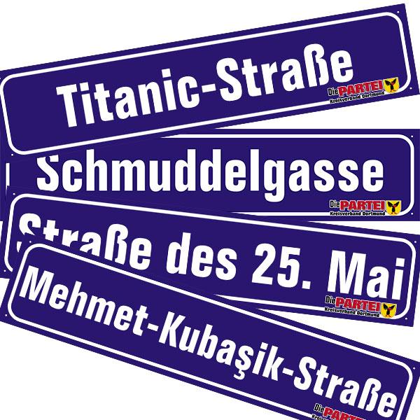 Die PARTEI schenkt Dortmund neue Straßennamen