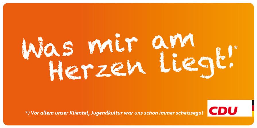 Was uns am Herzen liegt: CDU zeigt der Jugend den Finger (wieder mal)