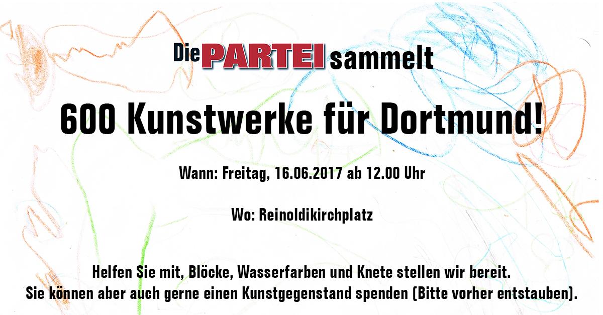 600 Kunstwerke für Dortmund!