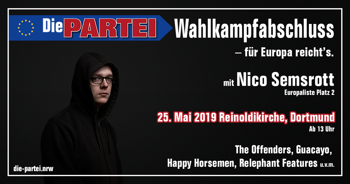 Wahlkampfabschluss NRW in Dortmund – für Europa reicht's