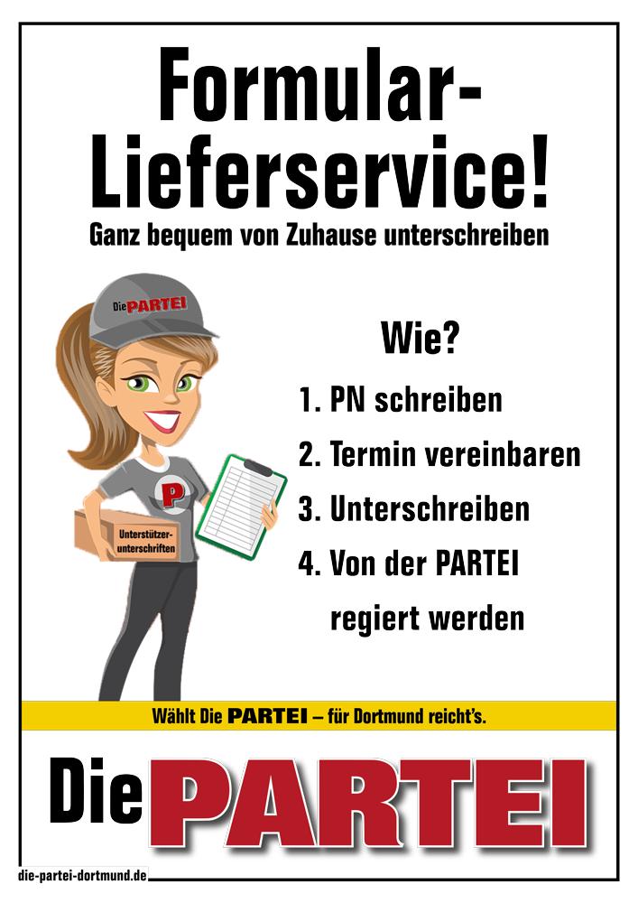 Der Formular-Lieferservice!