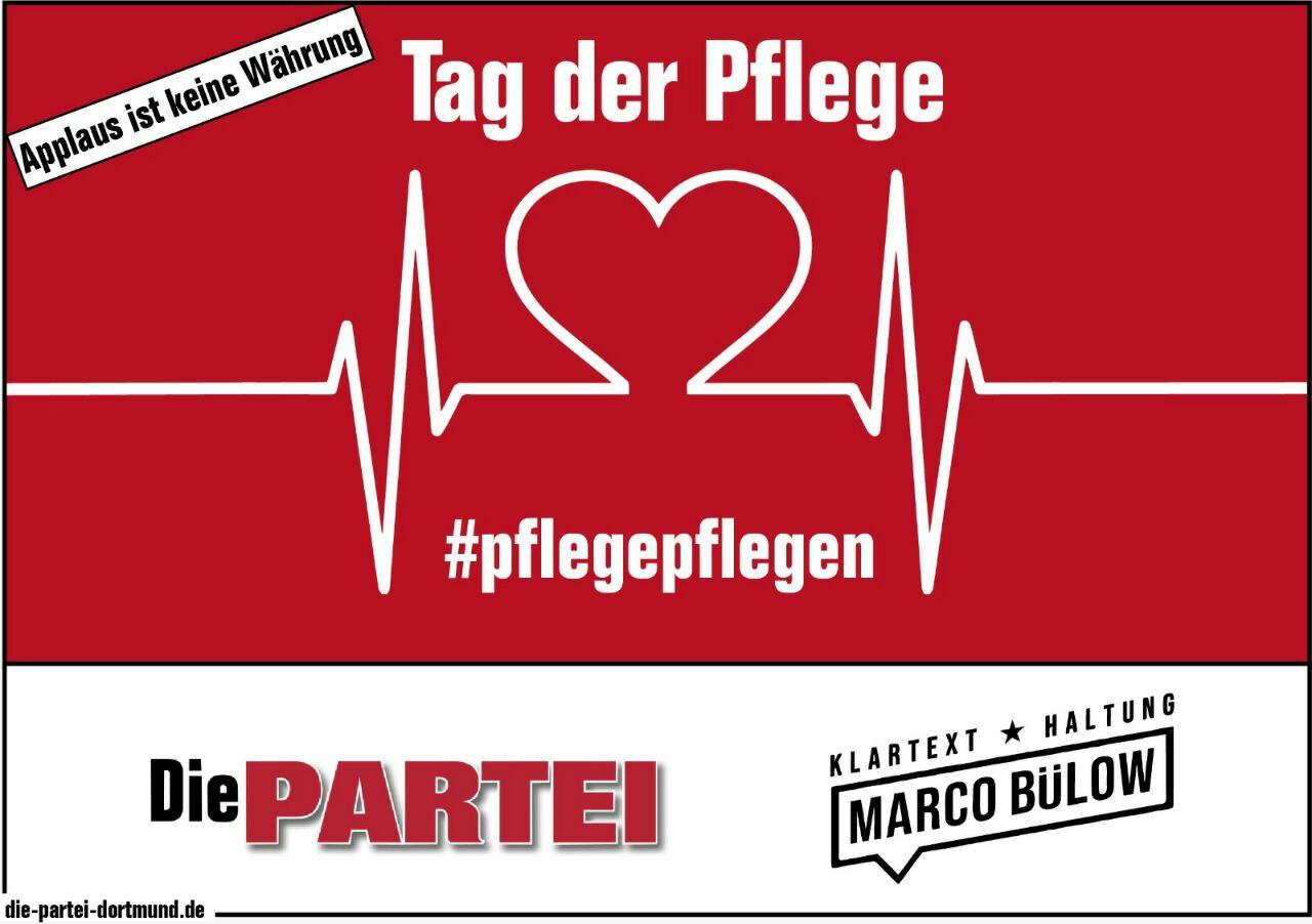 Pressemitteilung: Pflege pflegen! – Die PARTEI plant Mahnwache am Tag der Pflege an den Städtischen Kliniken